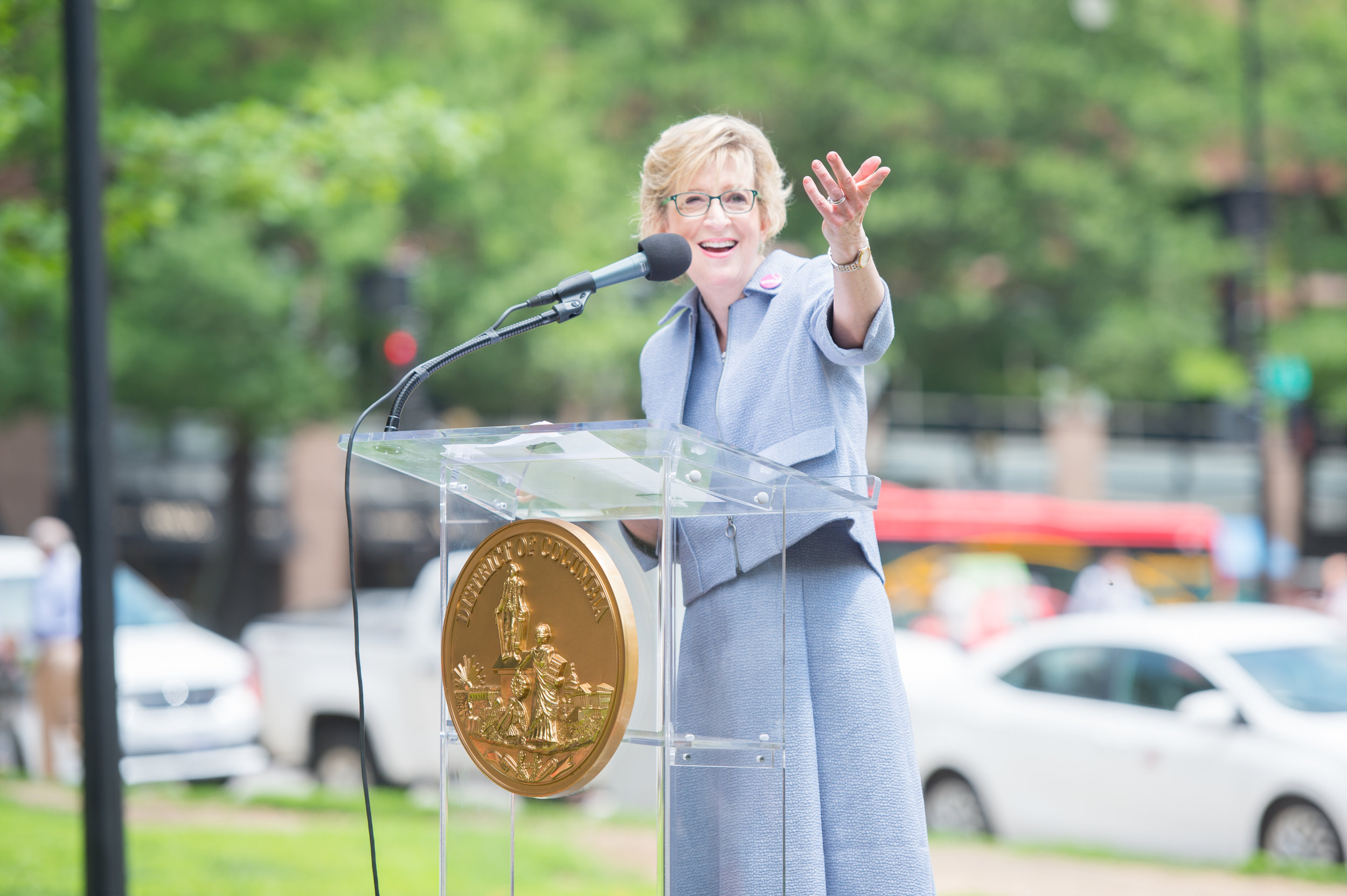Ann Friedman addresses the crowd