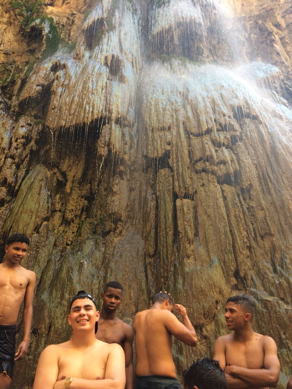 Treasure - After the Dead Sea, our boys found this waterfall in the middle of the desert.