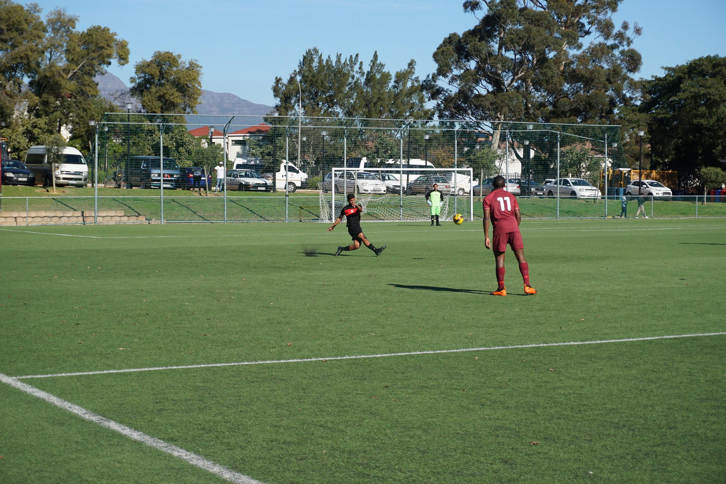 Playing against Stellenbosch FC.