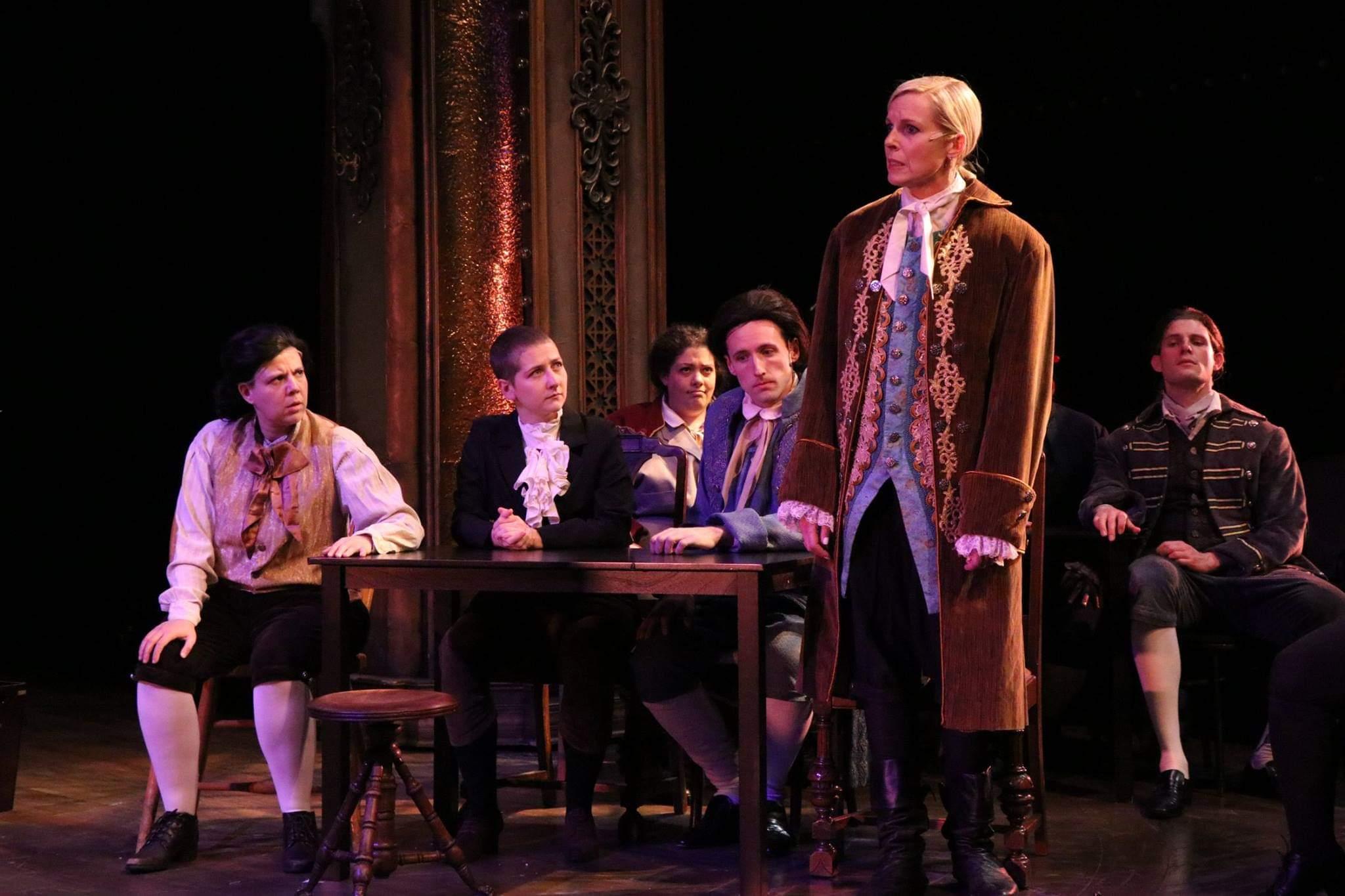 John Dickinson,  1776 , Porchlight Music Theatre (Photo: Austin Packard)