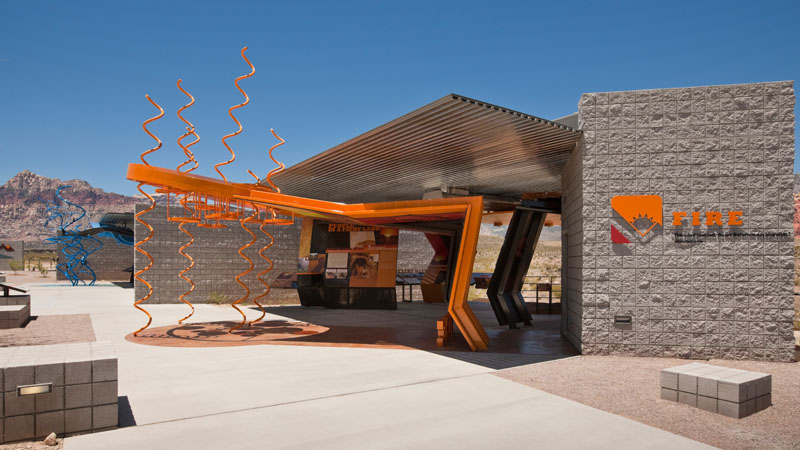 THE RED ROCK CANYON VISITOR CENTER