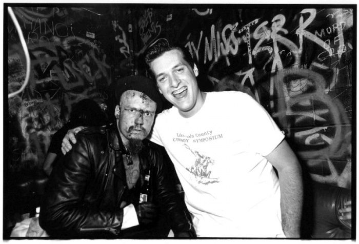 "G.G. Allin with a young Jon ""Speedo"" Reis, frontman of my eternal favourites Rocket From The Crypt."