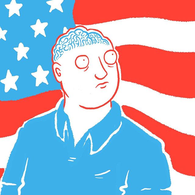 """Delighted to announce my 2018 book """"Bald"""" - the memoir of the baldest man that ever lived - is now being distributed in the United States via Zineomatic. ✌️ 🇺🇸 🏴"""