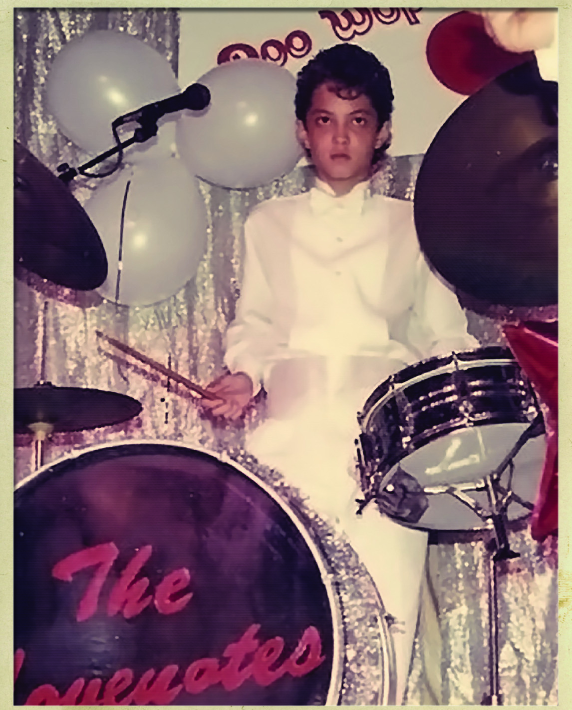 WE ALL START SOMEWHERE: BRUNO MARS' BROTHER AND DRUMMER ERIC E-PANDA HERNANDEZ ON HIS FIRST DRUM SET