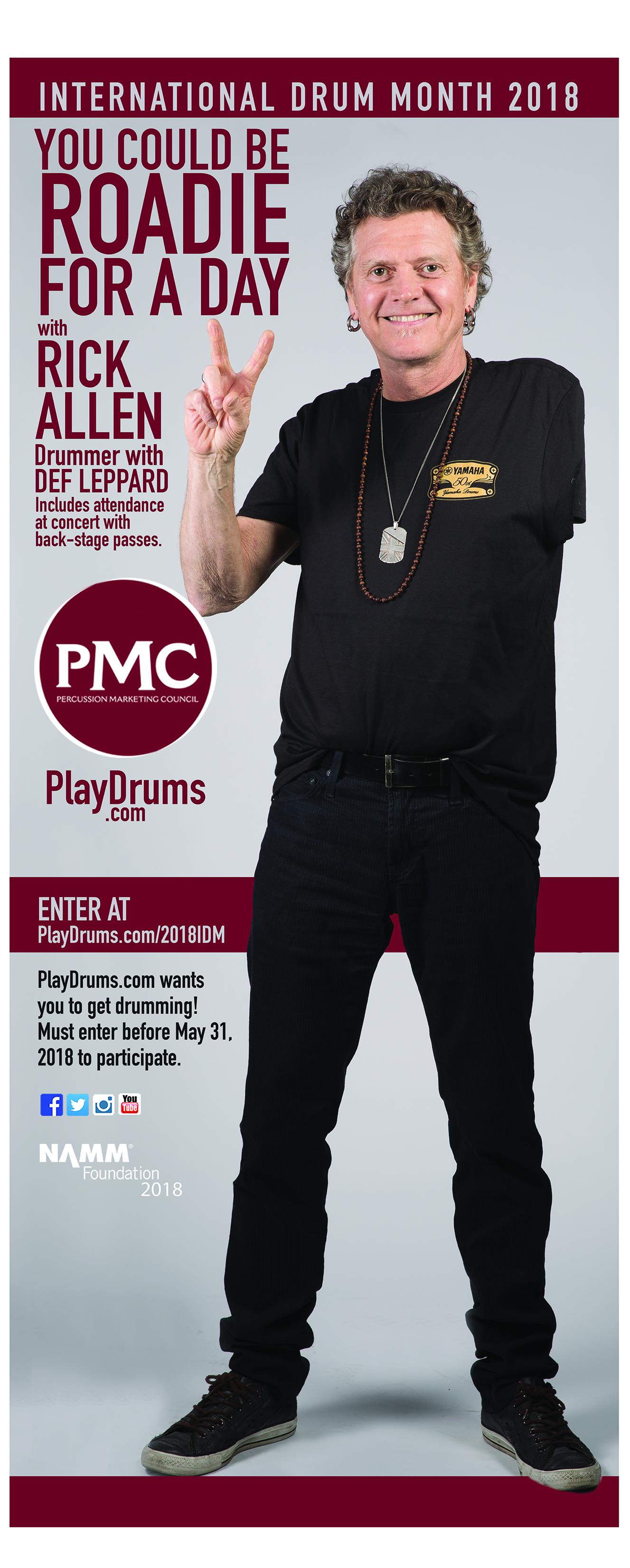 Rick Allen drummer for Def Leppard - International Drum Month 2018