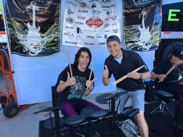 Cascio Music tent-hosting with electronic drum kits, Milwaukee, Wisconsin