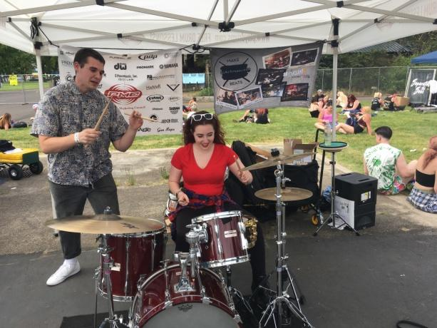 Lesson Lab tent hosted by Rhythm Traders Drum Shop, Portland, Oregon