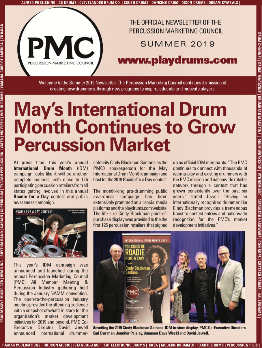 Percussion Marketing Council - Summer Newsletter