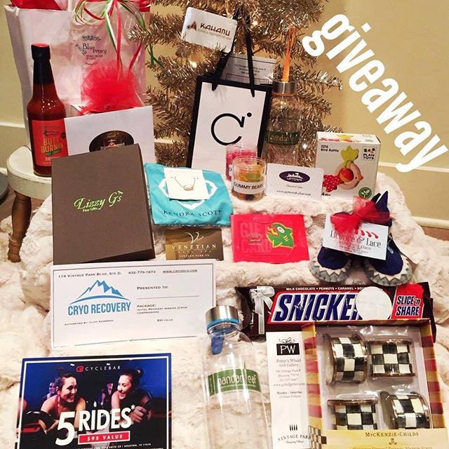 Blu Ivory Home Decor & the shops here at #VINTAGEPARKHOUSTON have teamed up to give ONE lucky follower a chance to win our Vintage Park Houston Shops Holiday Giveaway – Keep the gifts for yourself or stuff some stockings!  HERE'S HOW TO ENTER:  1. Must follow all FIFTEEN of us!  @lizzygsfinegifts @cryorecovery @chemistrycosmetics @cb_vintagepark @sweetboxcandy @potterswheelgiftgallery @uptown_blow_dry_bar @bluivoryhomedecor @groundupatheletics @pandan.leaf @kahanuyoga @fuzzysvintage @treatcupcakes @licorice_and_lace @venetiannailsvintagepark  2. LIKE THIS POST  3. TAGS 2 FRIENDS  Prizes include (Total Value Over $1,000) 1 Lizzy G's Fine Gifts – Kendra Scott Necklace 2 Cryo Recovery – 1 Cryo Session 3 Chemistry Cosmetics – Pink Diamond Lifting Mask, Lash Pop, Beauty Blender, Bioderma, Gift Card 4 Cycle Bar Vintage 5 Rides 5 Sweet Box Candy – Giant Snickers Bar, Chocolate Cordial Toasting Cups,  Bubble Gum Cigarettes, Samples, Gift Card 6 Potter's Wheel Gift Gallery Mackenzie – Childs Napkin Rings 7 Blue Ivory Home Décor – Secret Jewel Candle & Gift Card 8 Ground Up Athletics - Custom Orthotics 9 Pandan Leaf – Drink Bottles & Gift Card 10 Kahanu Yoga – 1 Single Yoga Session, 1 Sauna Appointment, 1 Spa Capsule Appointment 11 Fuzzys Taco – Butt Burnin' Sauce & Gift Card 12 Treat Gourmet Cupcakes – Gift Card for 1 dozen cupcakes 13 Licorice & Lace (a children's place) Felt Booties & Toy 14 Venetian Nail Spa – Gift Card 15 Uptown Blow Dry Bar – Gift Card  OUR GIVEAWAY ENDS DECEMBER 20, 2017 AT MIDNIGHT --WINNER MUST LIVE OR WORK IN THE VINTAGE PARK OR HOUSTON AREA AND BE ABLE TO PICK UP PRIZE *This give way is not sponsored, administered or associated with Instagram Inc.  By entering entrants confirms they are at least 18 years of age,  live or work in the Vintage Park / Houston area and are available to pick up prize and agree to Instagram's terms of use.