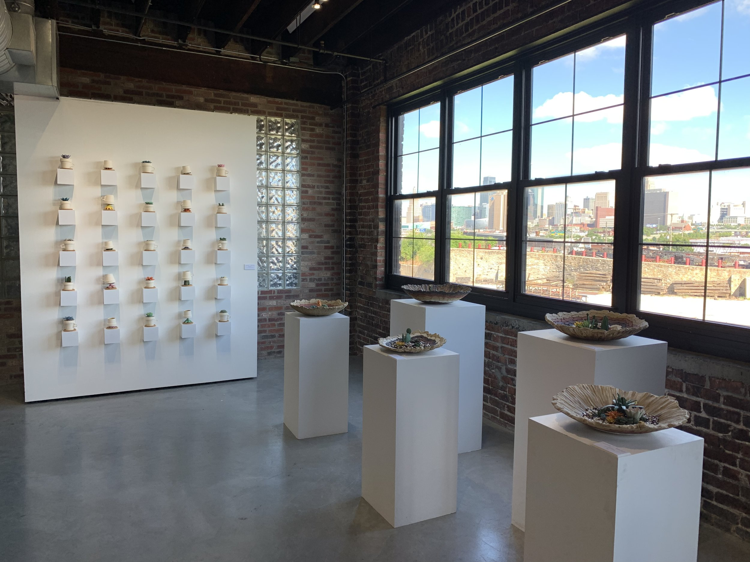 """Image: Installation view from """"Amalgam"""" The Annual Resident Exhibition at Belger Crane Yard Studios"""