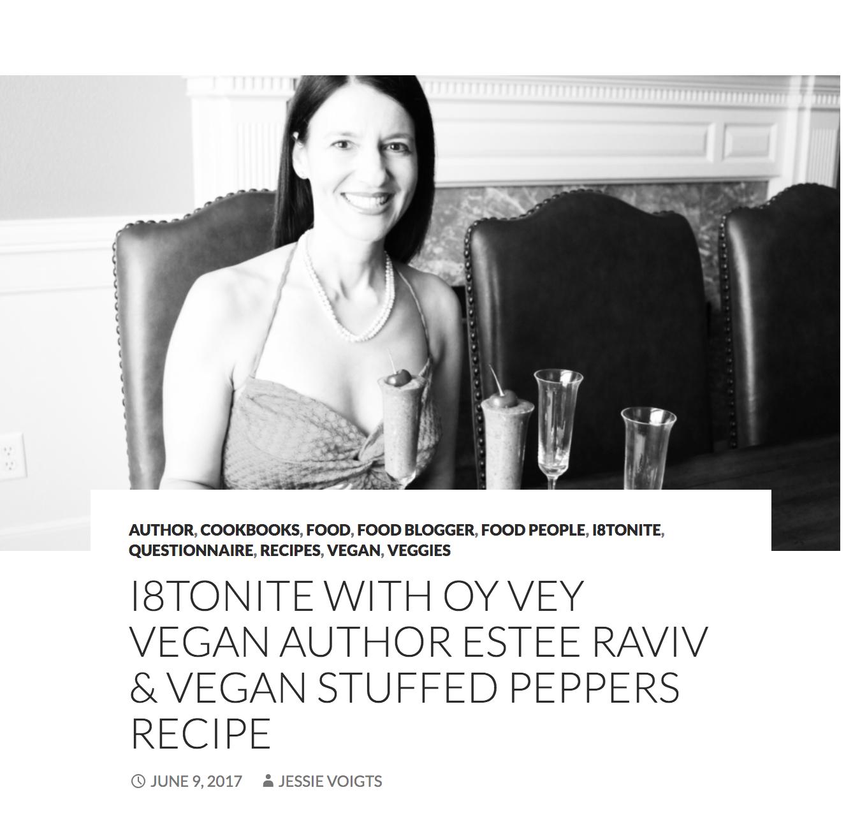 i8tonite With Oy Vey Vegan Author Estee Raviv // i8tonite