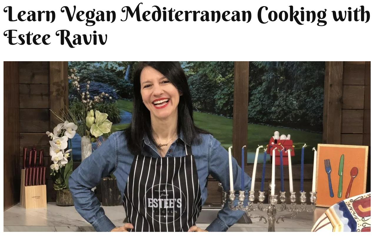 Learn Vegan Mediterranean Cooking with Estee Raviv // Jewess Magazine