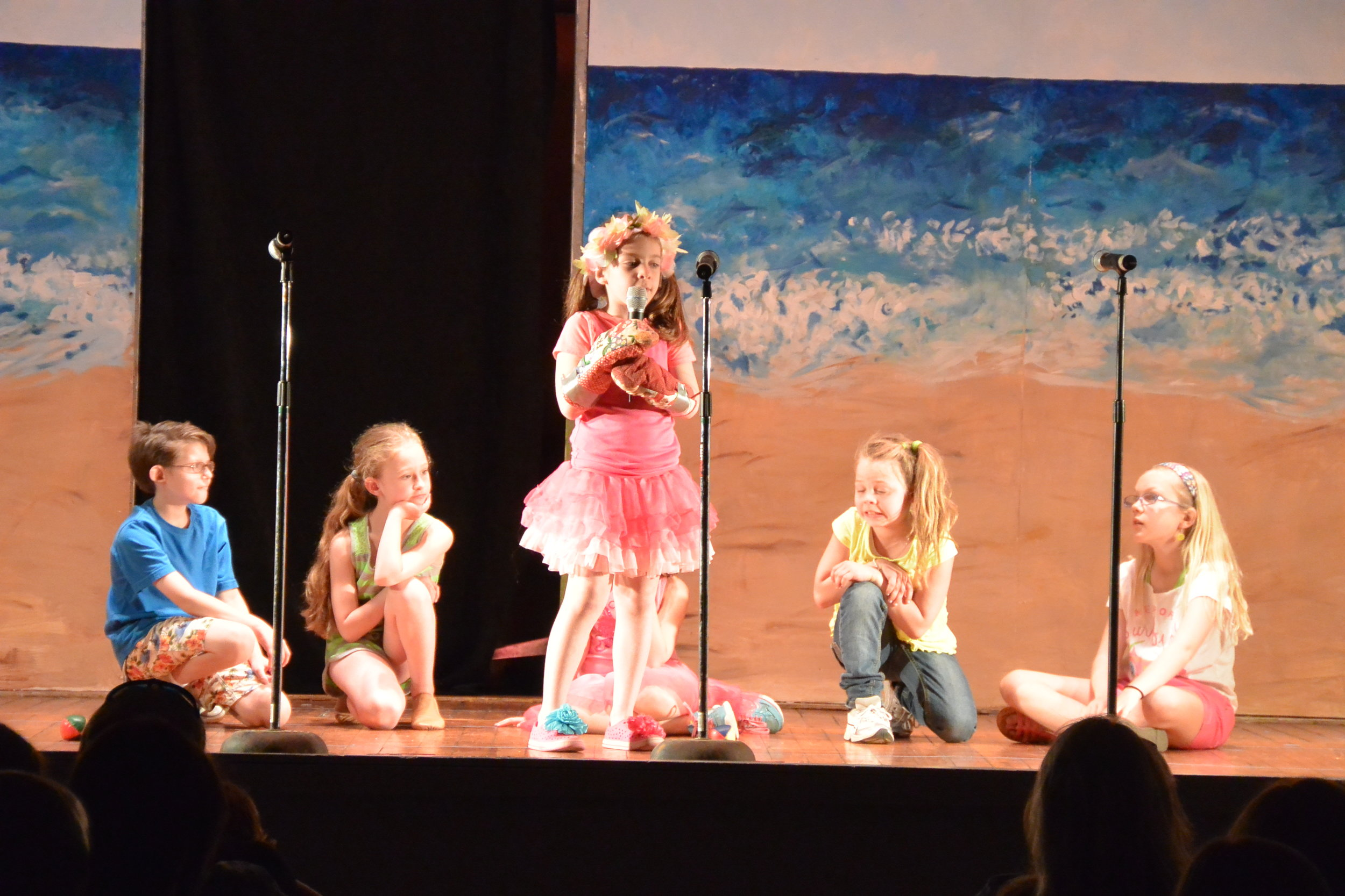 The NY cast of JOSIE AND THE ROCKAWAY TUFFS. Book, music and lyrics by Arianna Rose