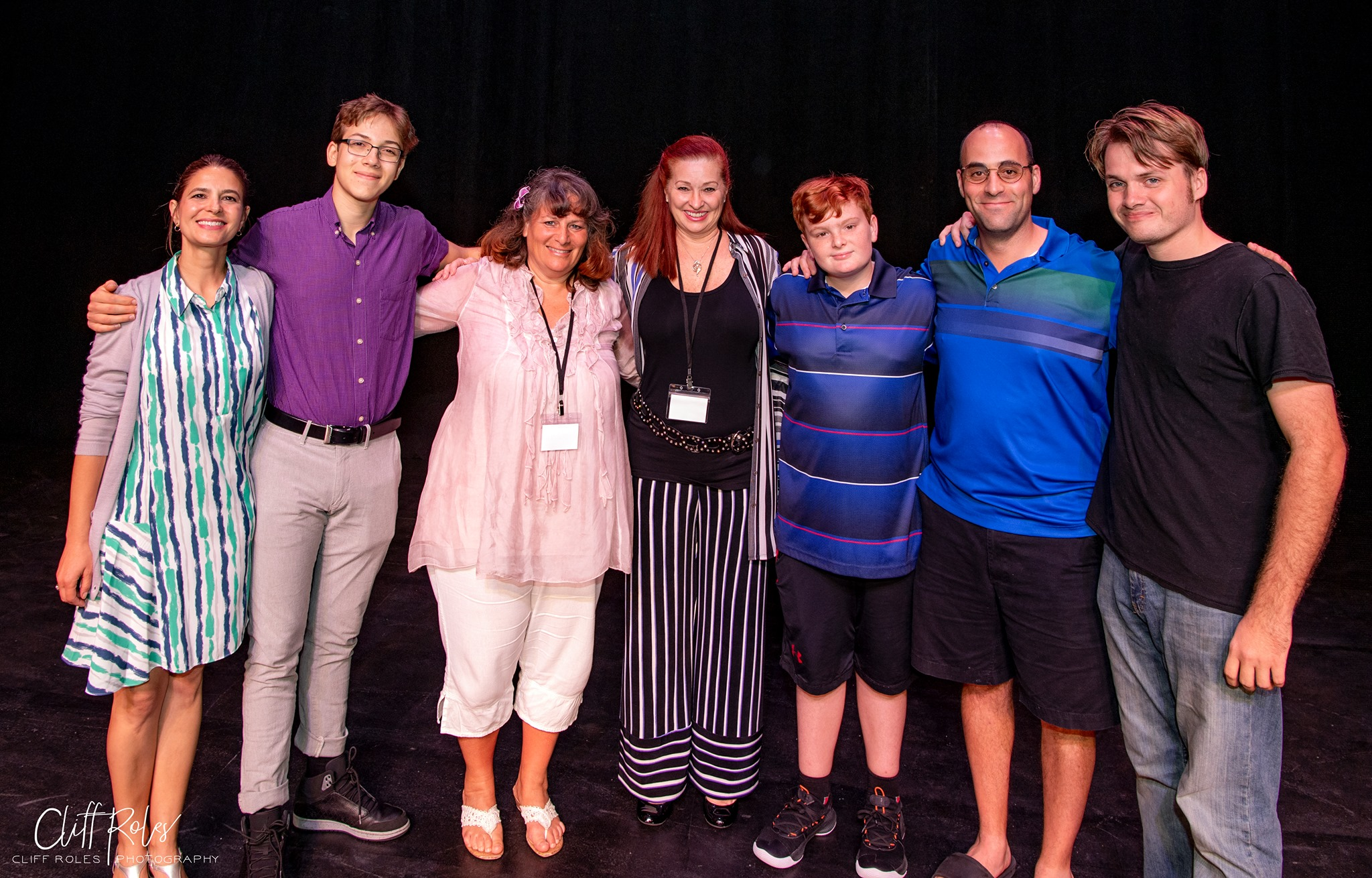 Winner, Best Play, Family By Numbers. Cast and Creatives: Julee Breehne (MOTHER), Ricky Bizarro (MIDDLE SON), Playwright Arianna Rose, Director Michele Strauss, Tyler Gevas (YOUNGEST SON), Scott Ehrenpreis (FATHER), and Ren Pearson (OLDEST SON). Photo by Cliff Roles.