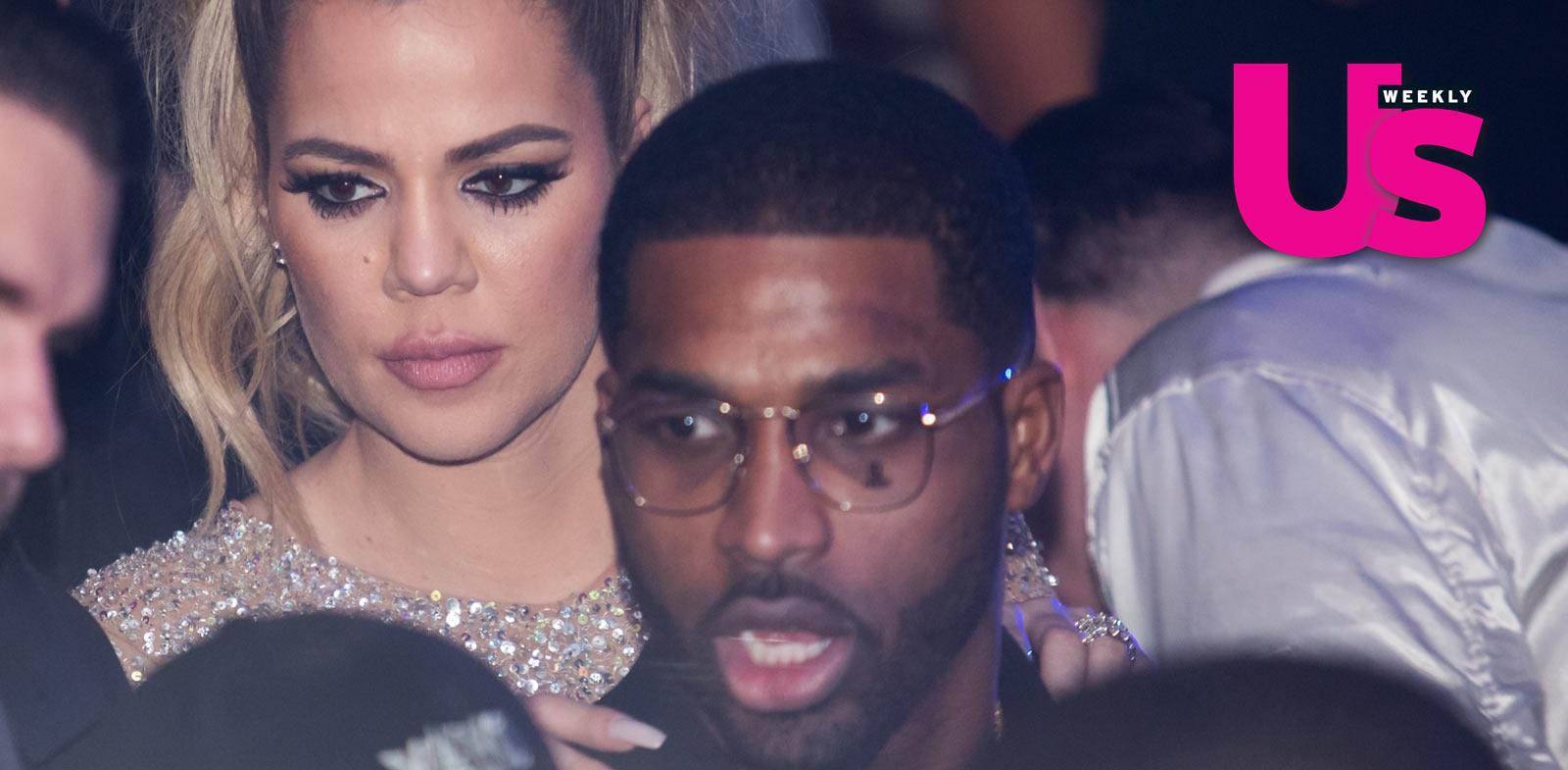 Khloe Kardashian Kisses Boyfriend Tristan Thompson on New Year's Eve