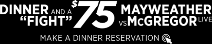 Enjoy Dinner and The Money Fight for $75 at E11Even Miami.