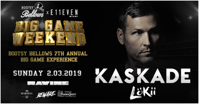 Sunday, February 03 |   KASKADE     TICKETS | VIP TABLES