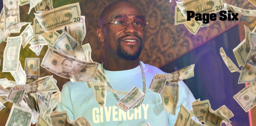 Floyd Mayweather makes money rain down at Miami nightclub