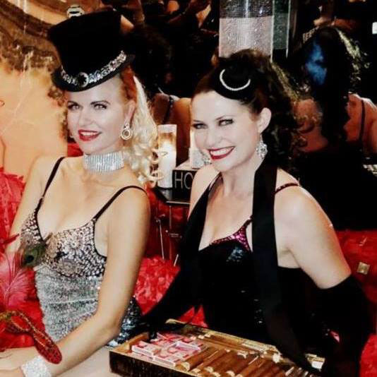 Cabaret Dancers with Top Hats and Sequins