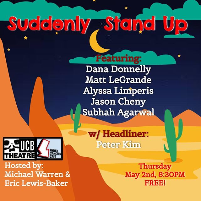 Headlining @suddenlystandup next week, the lineup is sicknin, it's free so come bring your friends!