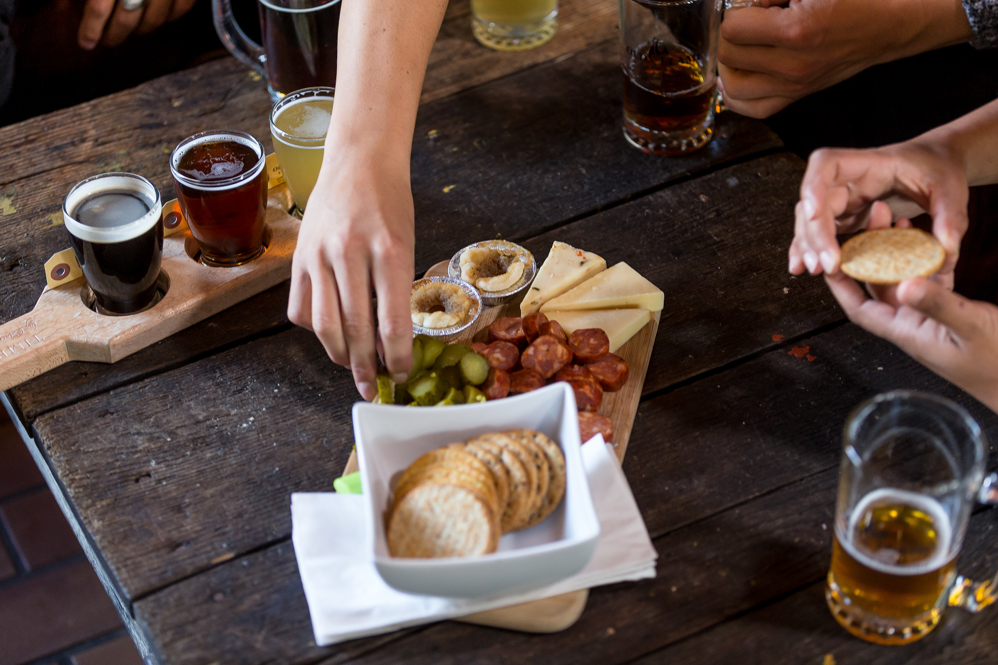 Beer flight and Brewer's Plate