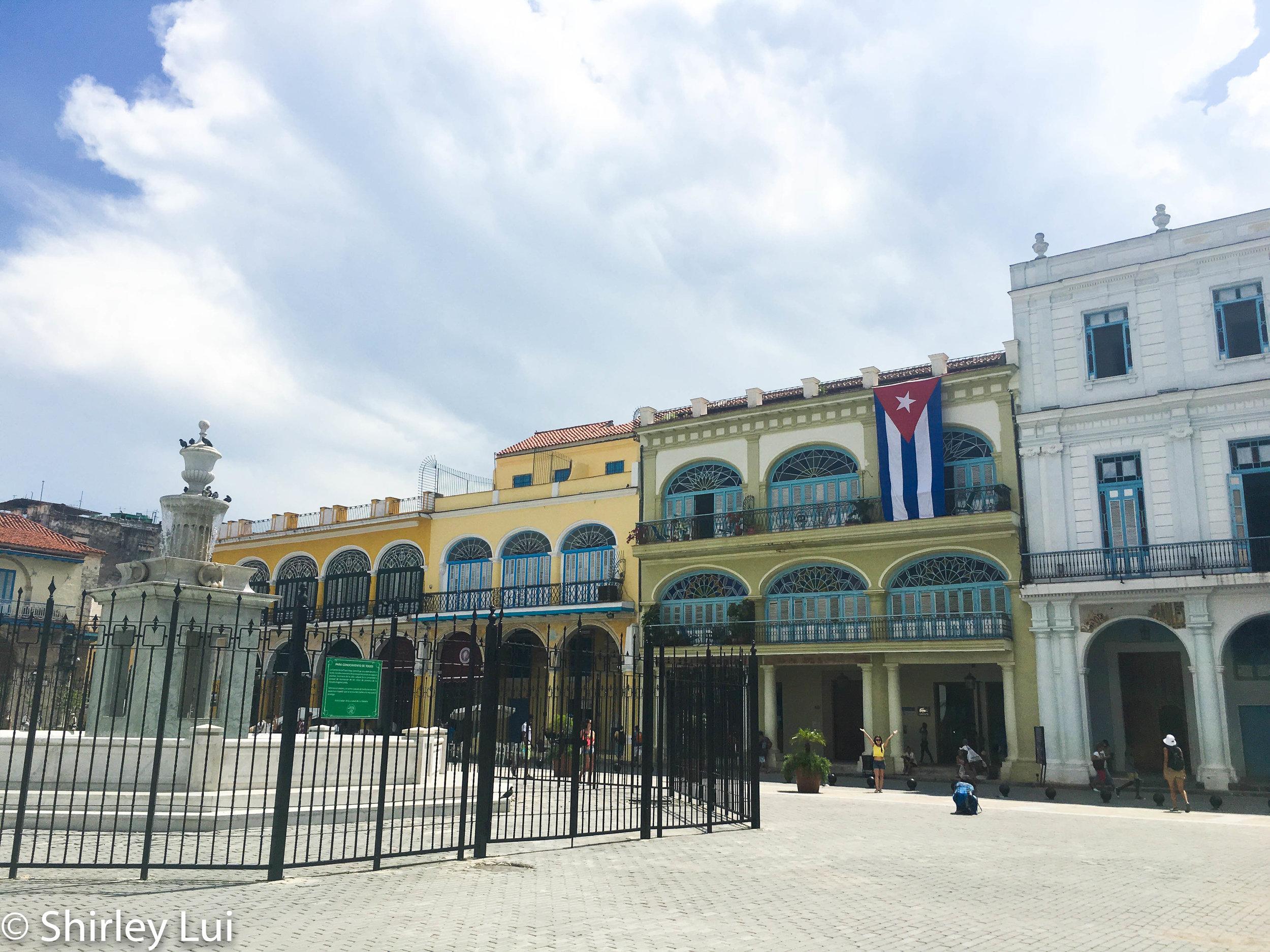 Old Square (Plaza Viejo) in Havana, Cuba.