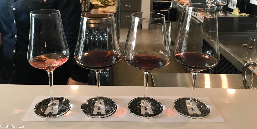 Wine tasting at Adamo Estate Winery in Mono, Ontario