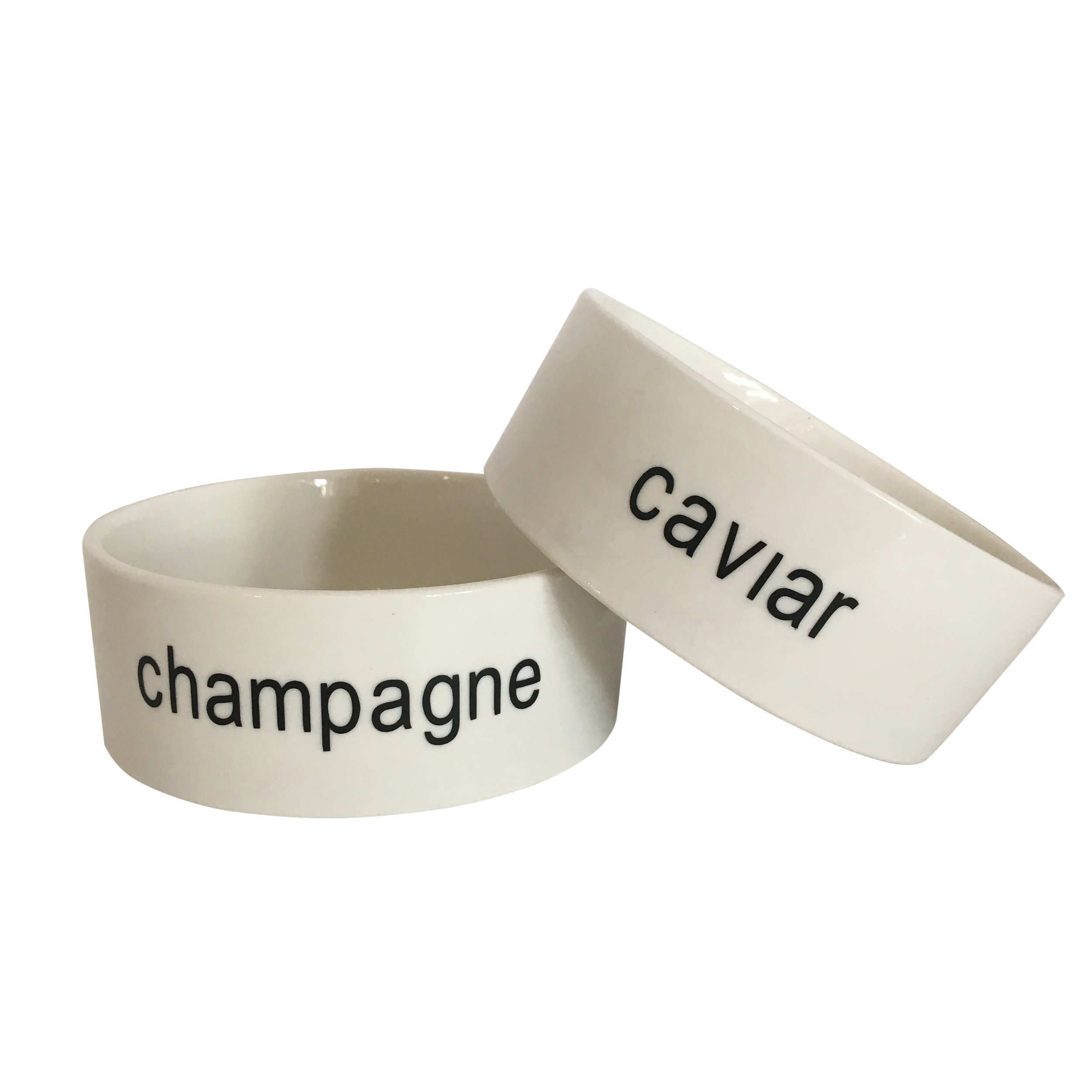 champagne and caviar cat bowls
