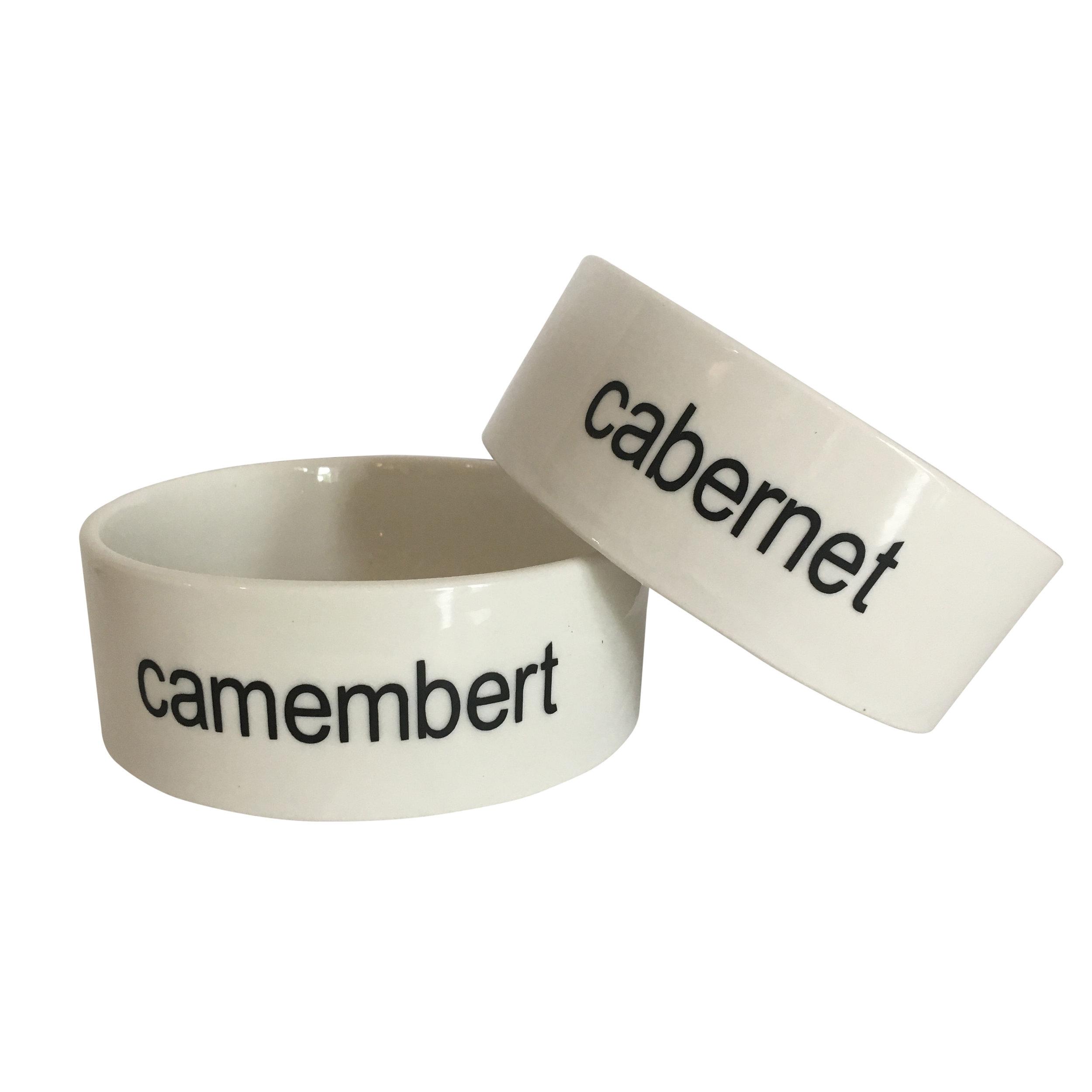 camembert and cabernet cat bowls