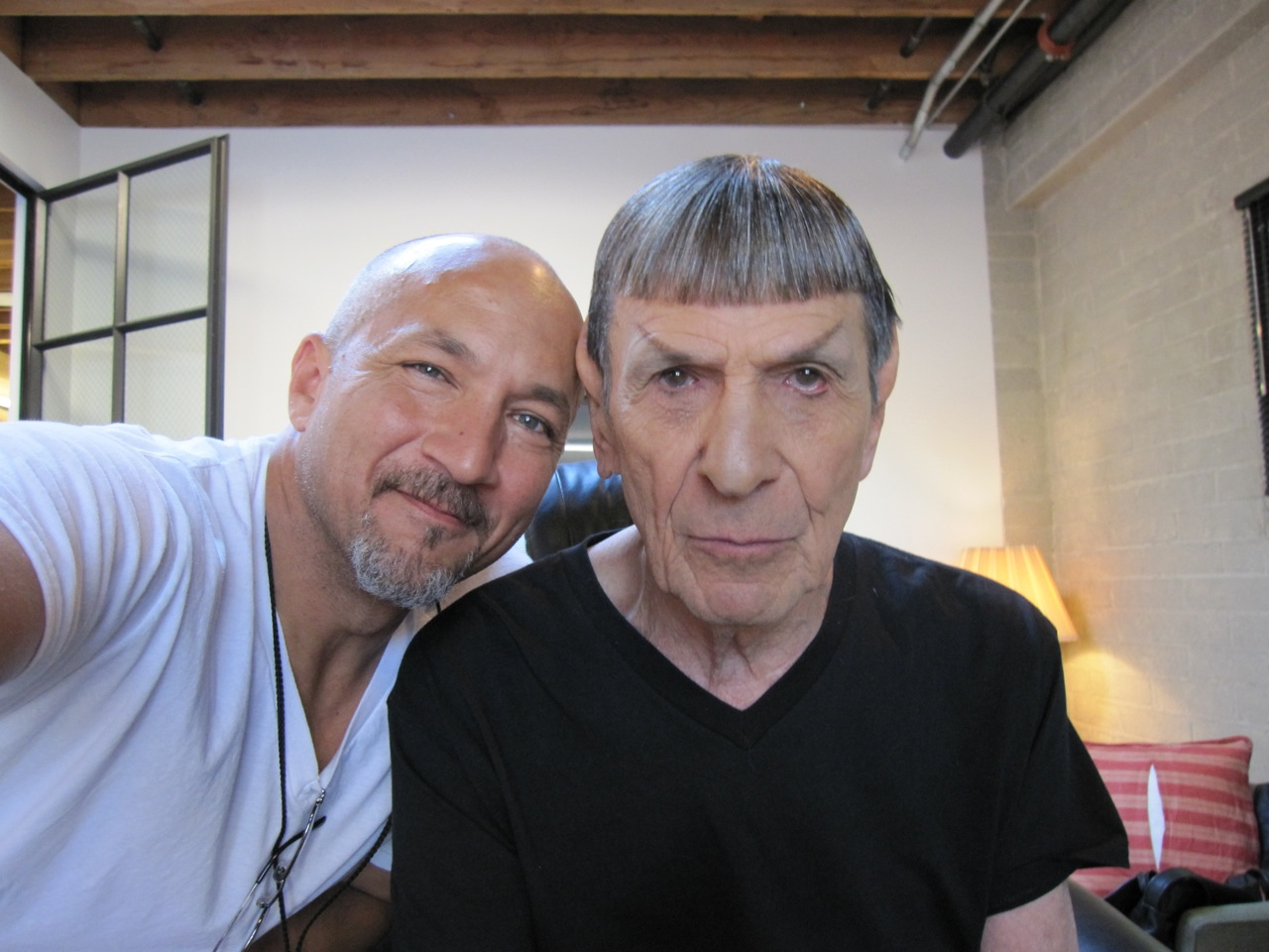 david anderson and leonard nimoy - star trek: into darkness