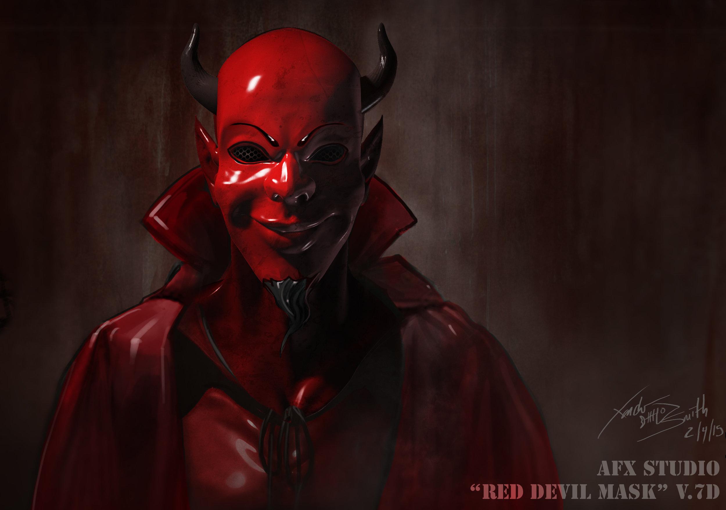 red devil illustration - scream queens (season 1)