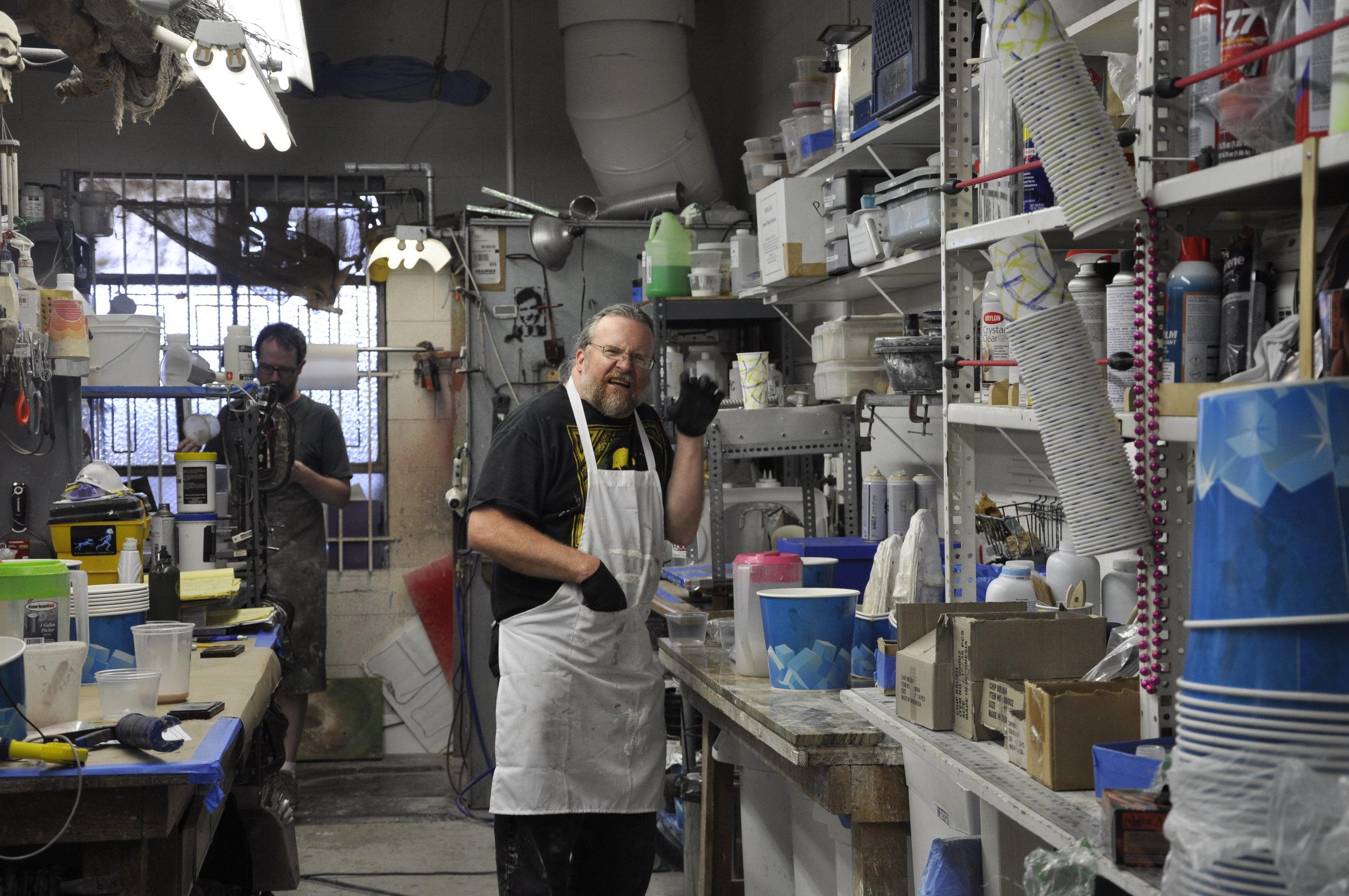 Jim McLaughlin and brad palmer at work