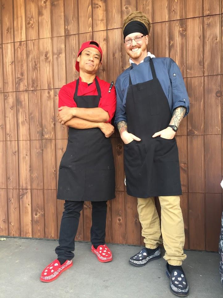 Chefs Josh Simpson and Jerry Domingo