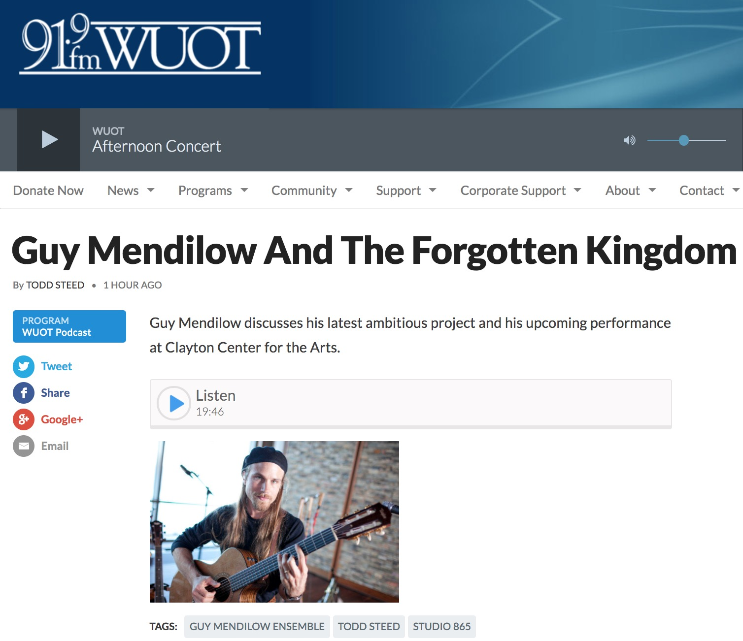 WUOT Todd Steed - Guy Mendilow