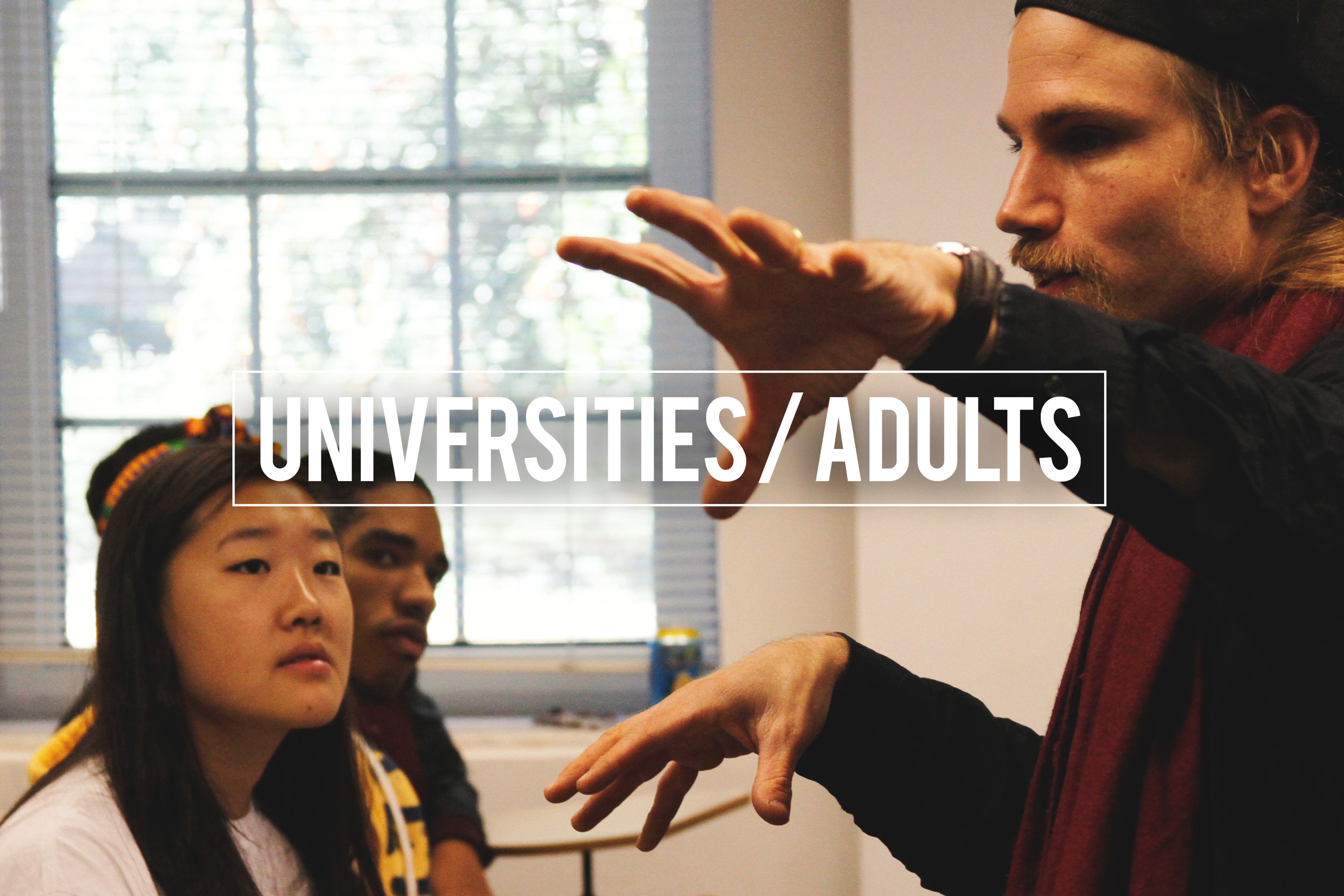 L ectures and Masterclasses for  Universities & Adults  on Campus / in the theatre