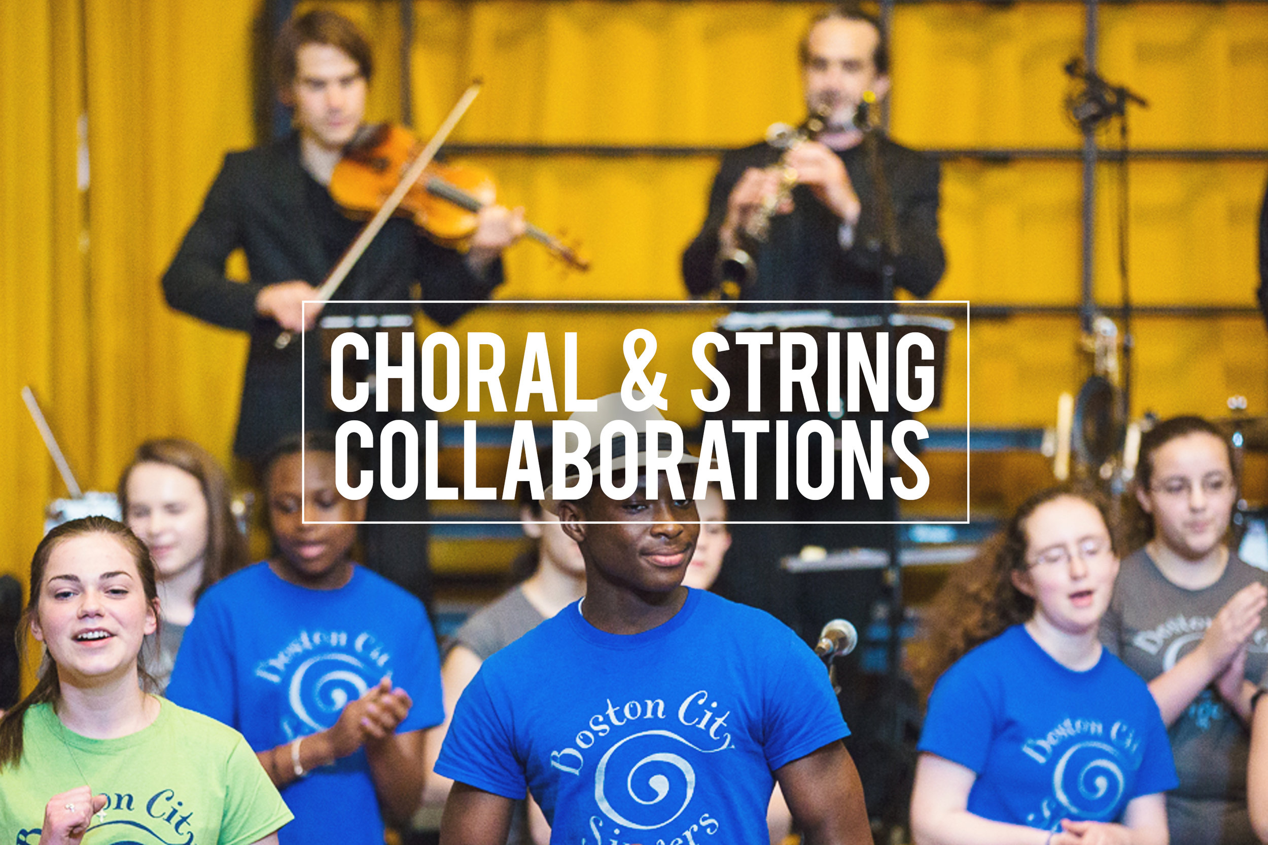 C ollaborations with community, student & professional ensembles