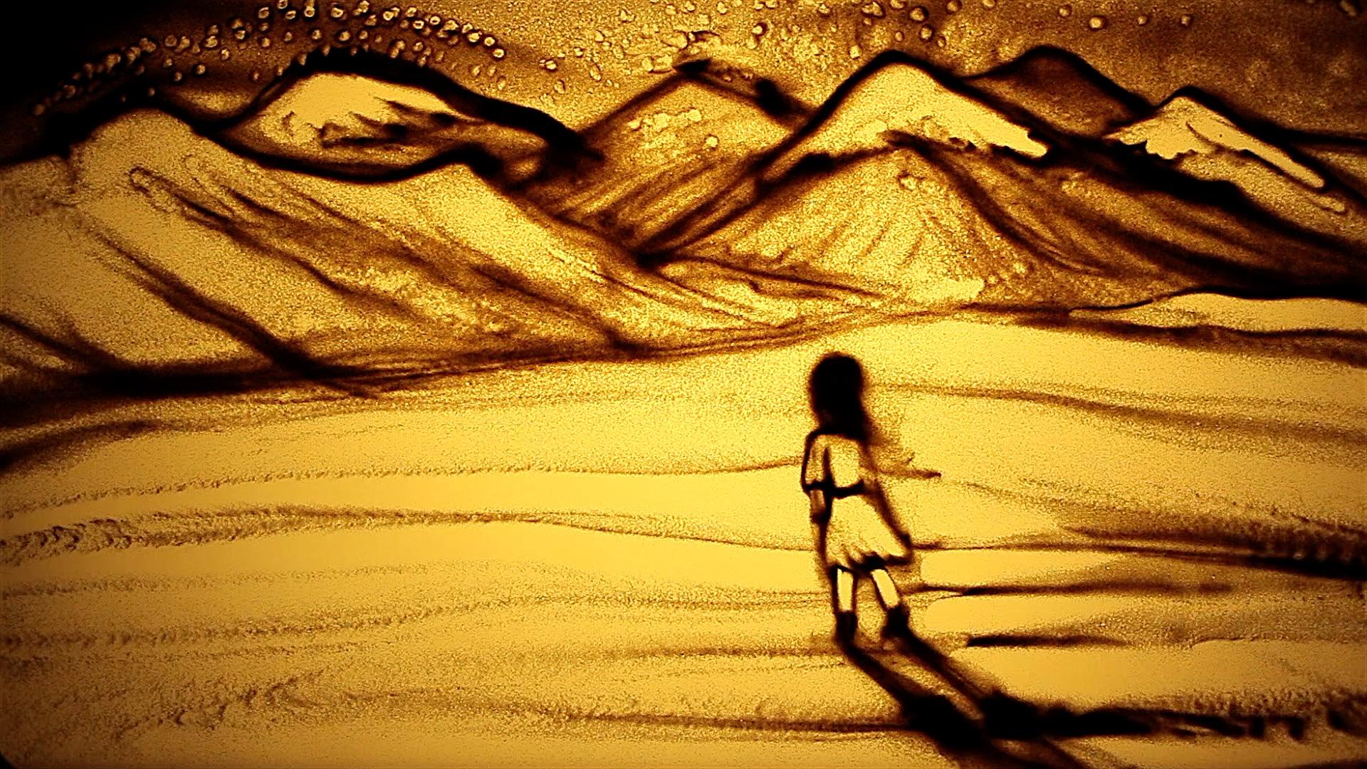 Girl traveling over mountains, La Galana.jpg