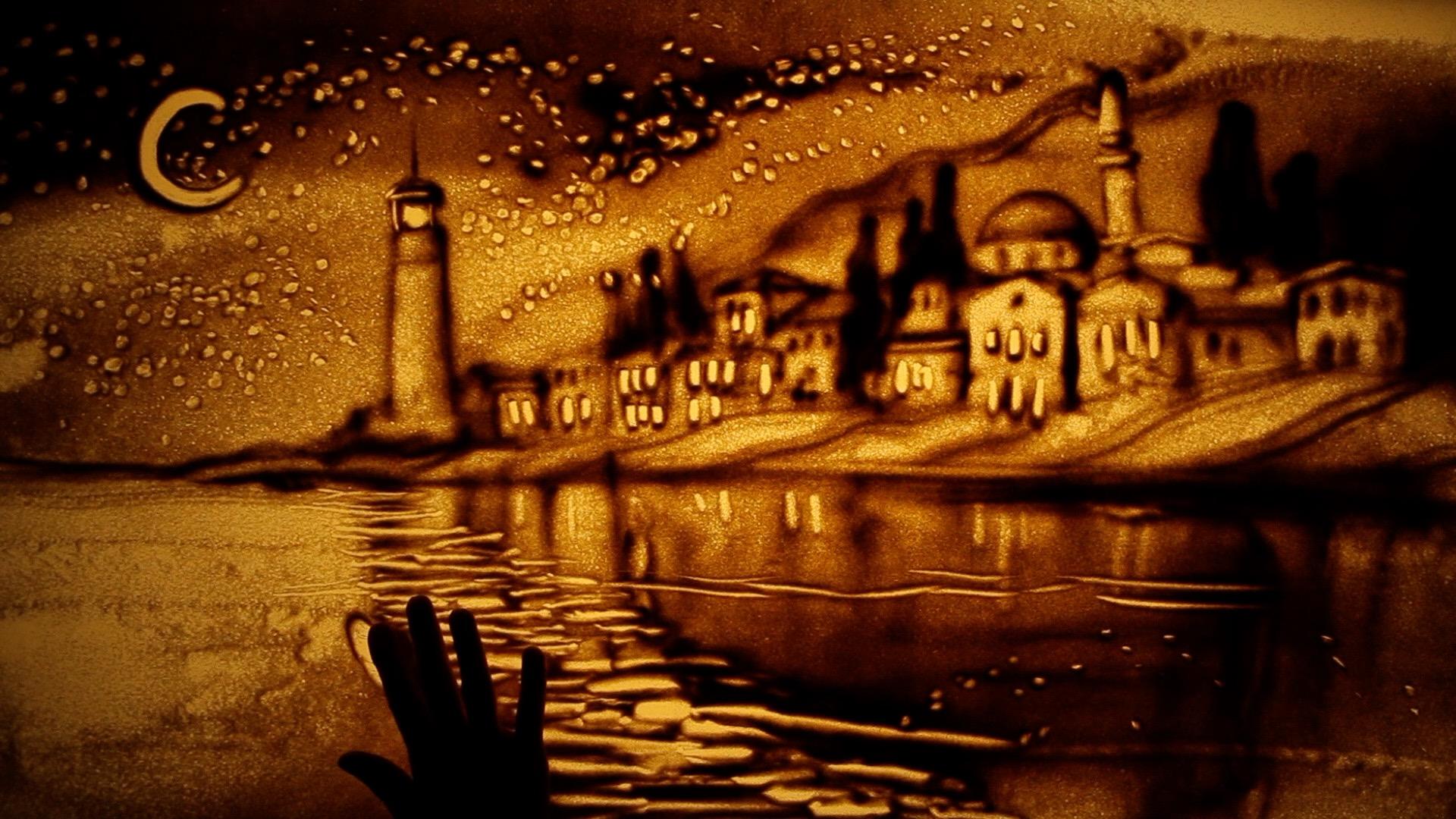 Una Noche nighttime village frame.jpg