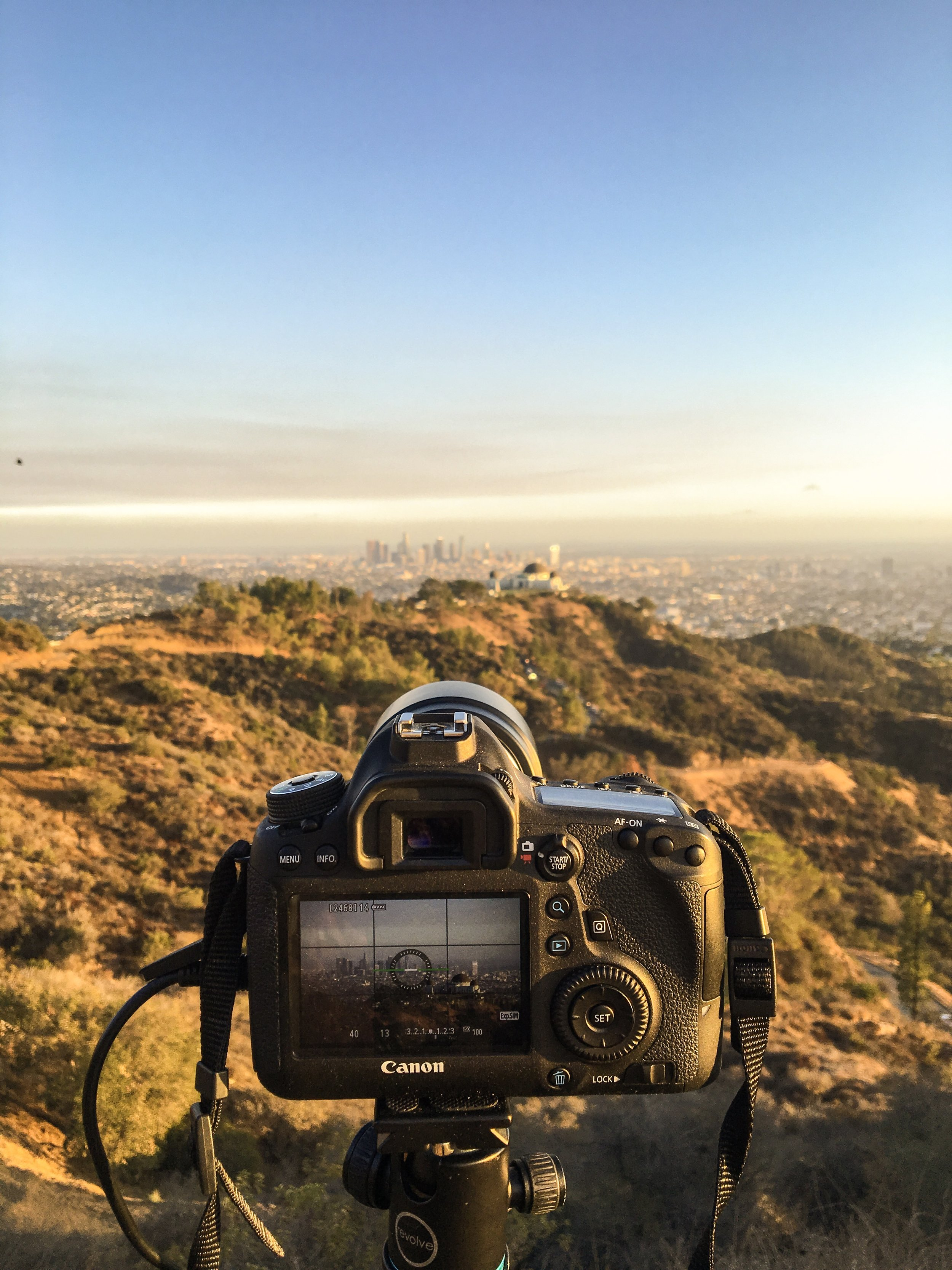 Shooting Holy Grail timelapse from Griffith Park, California.
