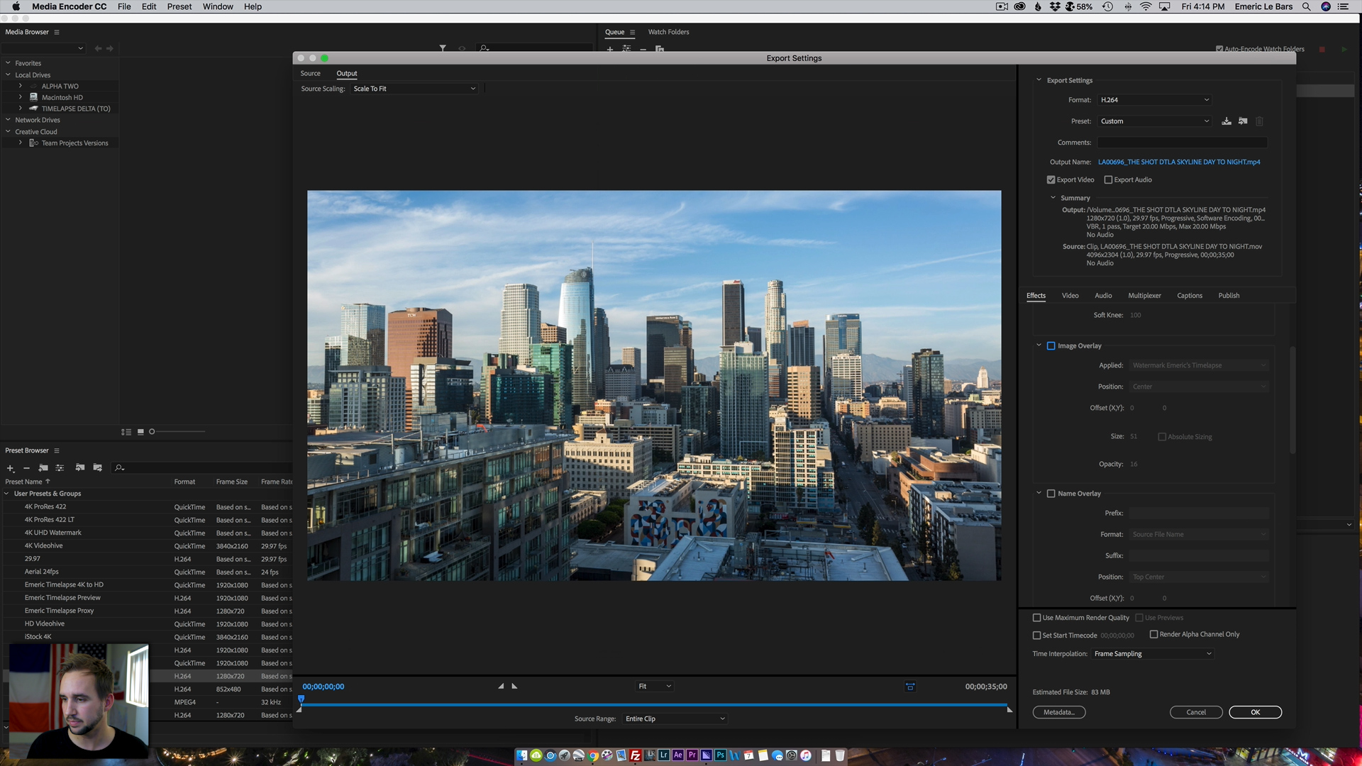 CREATING PROXIES ADOBE MEDIA ENCODER Timelapse Masterclass 2019