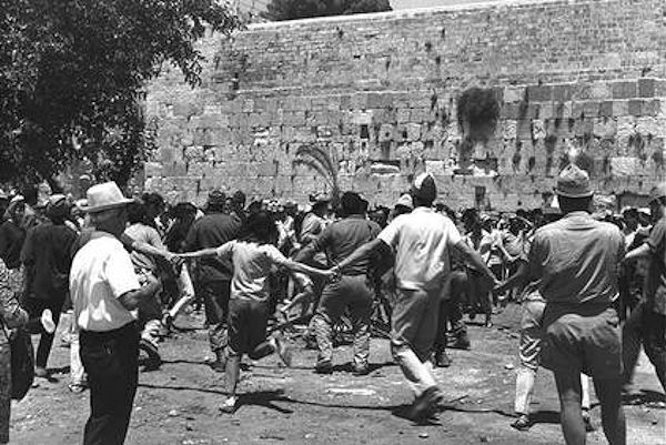 Israelis celebrate the reunification of Jerusalem just in time for Shavuot, 1967.