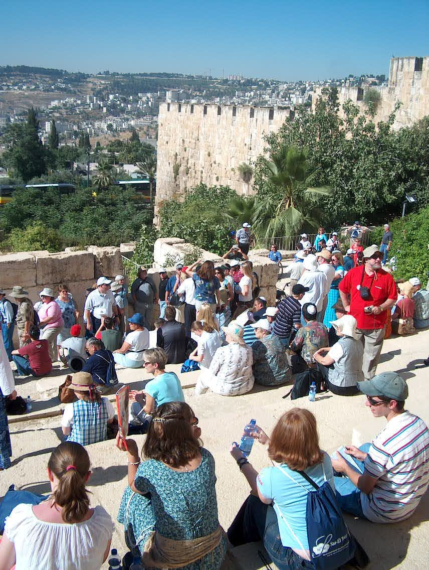 A small slice of a UMJC group touring Israel, undeterred by the second intifada.