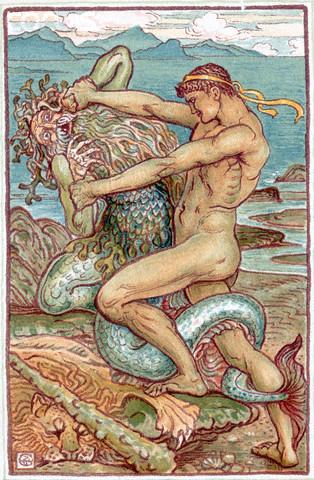 Hercules wrestles with Proteus