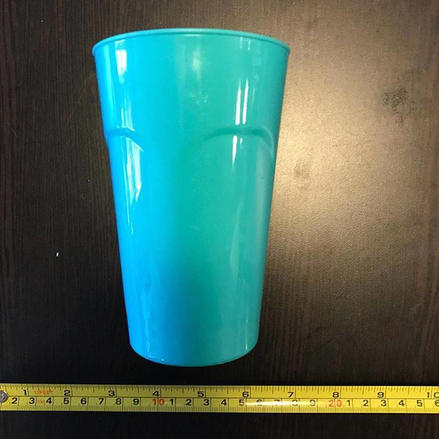 Cup: common household item for drinking out of. #plasticarchaeology #dailyuse #multiuse #muchbetterthanwaterbottles #reduceplasticuse #blueplastic #kitchenware