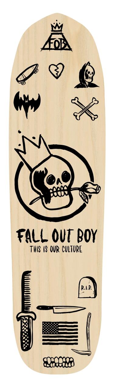 Fall Out Boy Skate Deck.jpg