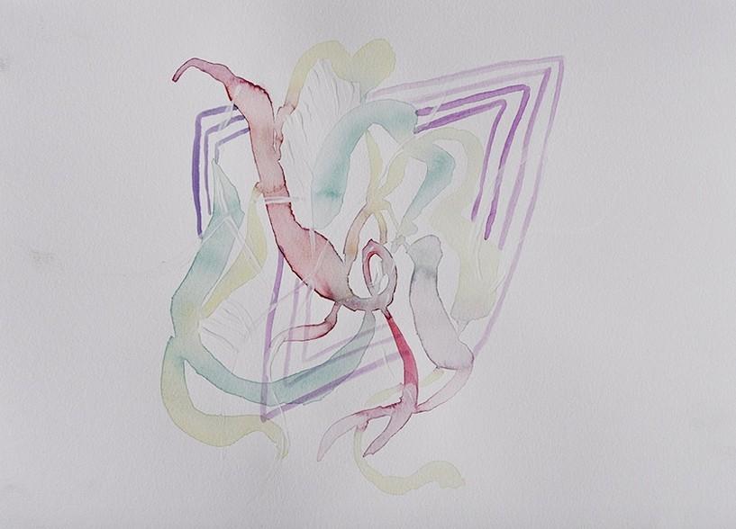 "Study 4 Watercolor 9"" x 12"" 2015"