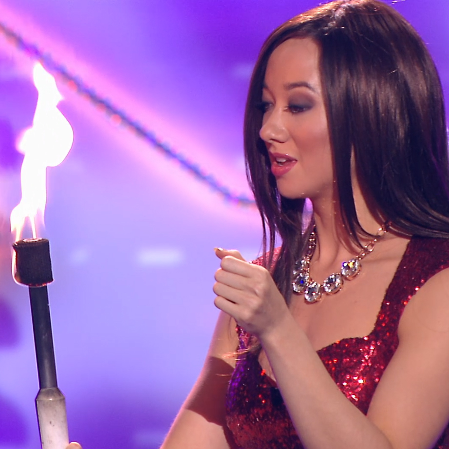 Masters of Illusion (The CW)   Angela performs her highly sought after fire divination routine with an unsuspecting audience member.