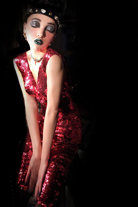 Twigs Red Dress