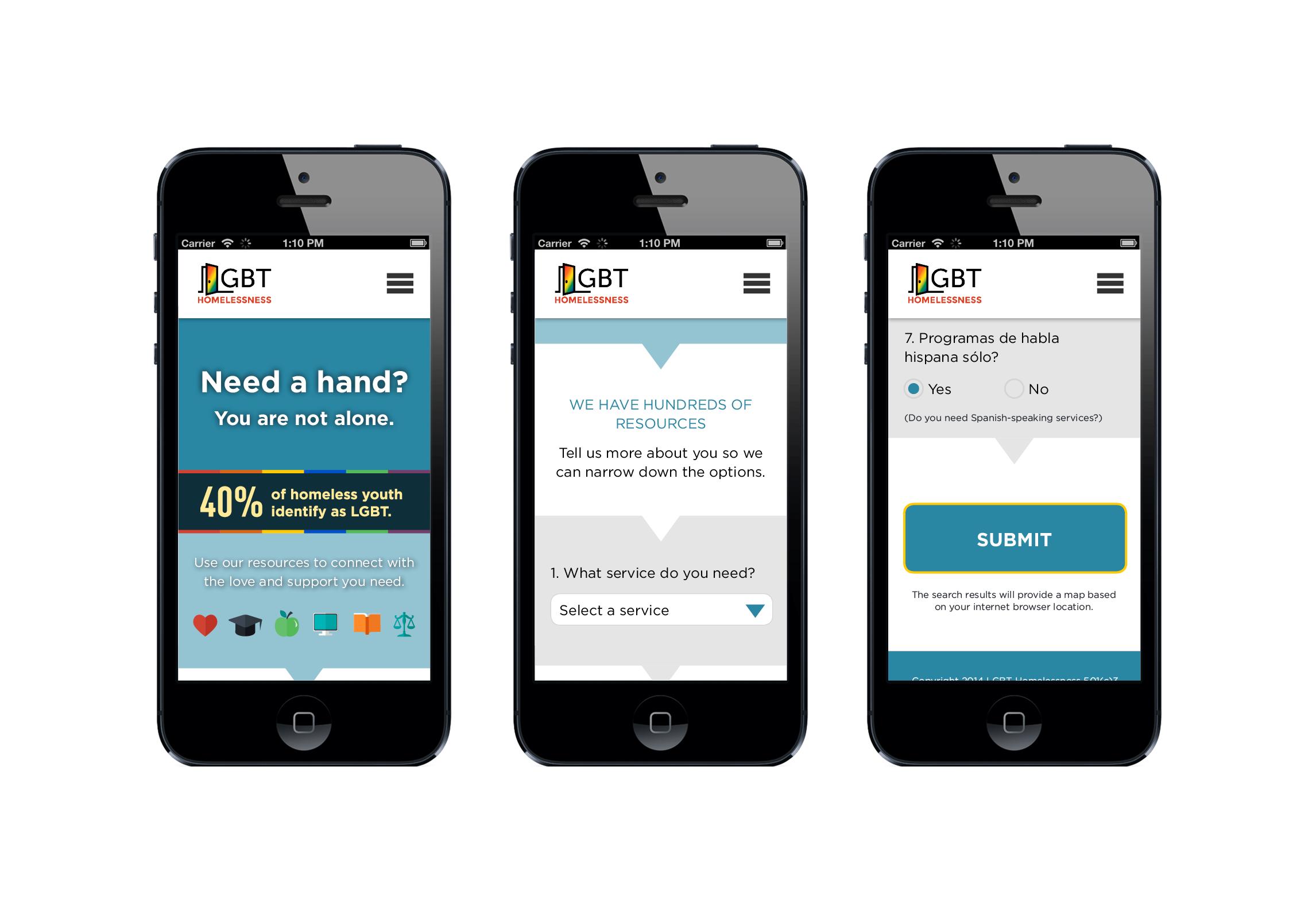 lgbt homelessness support app