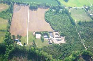 Arial View of the 35 acre facility under construction